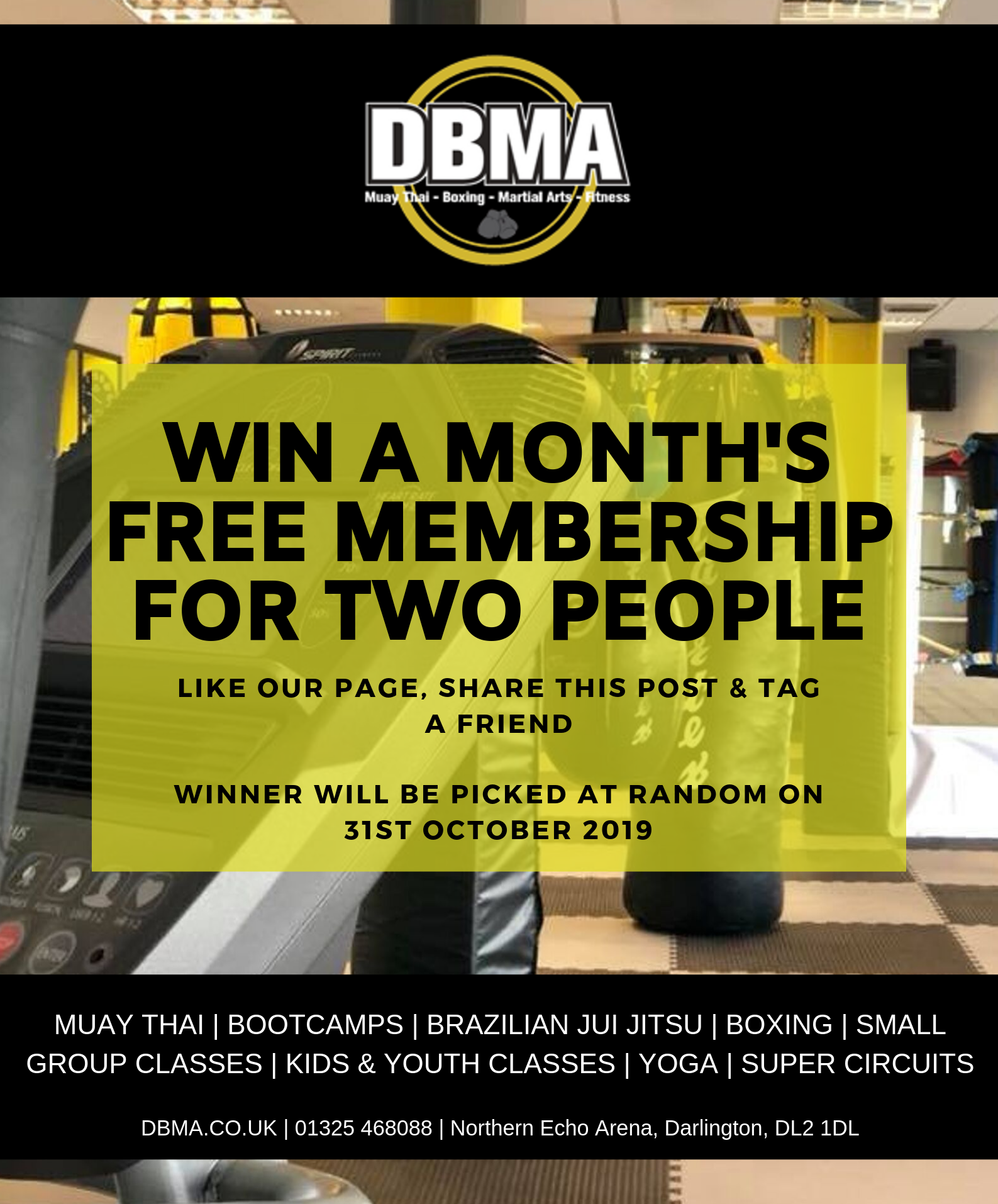 Win a month's free membership for two people